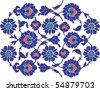 Ottoman ceramic art - stock vector