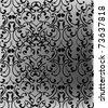 ottoman seamless wallpaper vector design on grey background - stock vector
