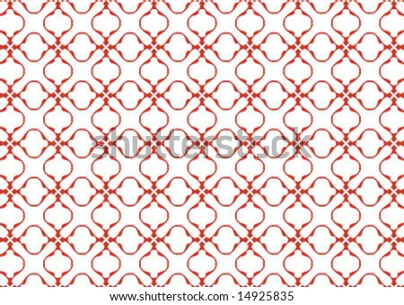 Ottoman style wallpaper pattern and shape - stock vector