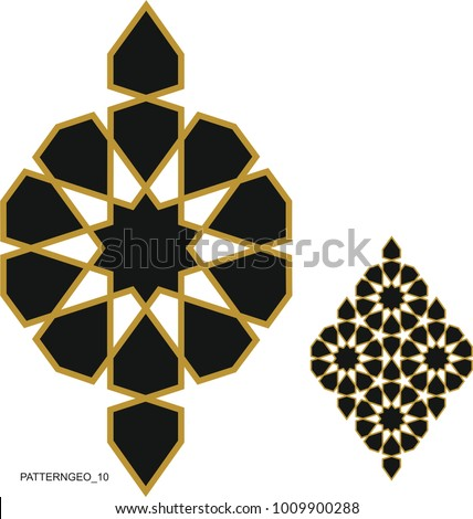 Ottoman Tile and Tezhip motifs are very similar to each other. When the motif is arranged horizontally and vertically behind each other, a wonderful background is formed.