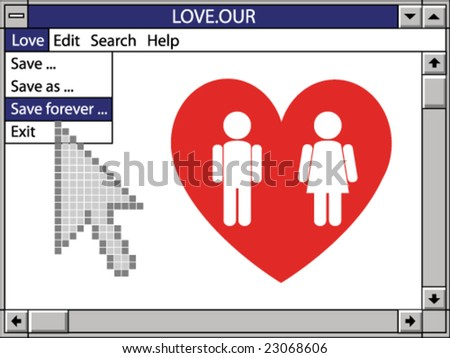 our love save forever - stock vector