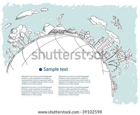 Our world. - stock vector