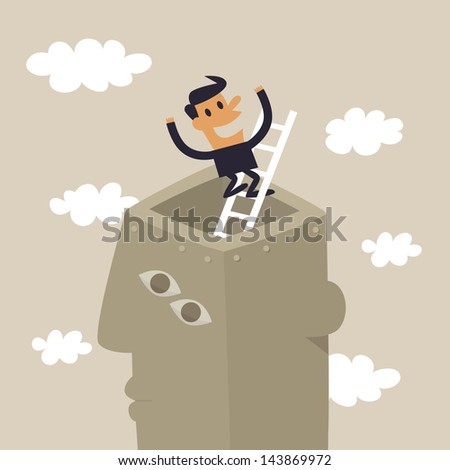 Out of the box - stock vector