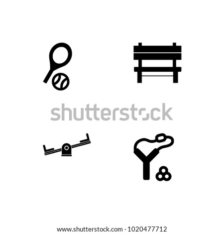 Outdoor activities, hobby, recreation, leisure, sport, vacation, camping, games icon set