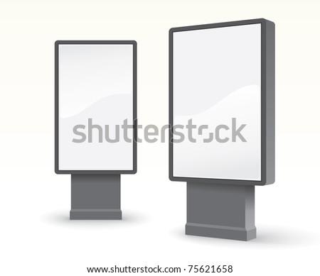 outdoor advertising citylight - stock vector