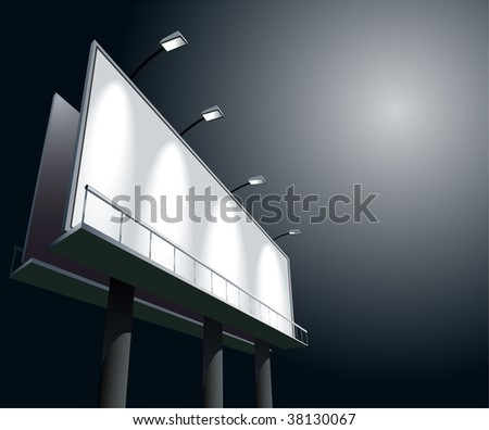 Outdoor advertising construction. Vector. - stock vector