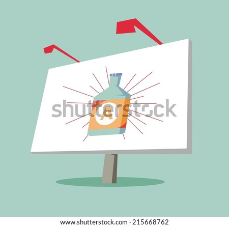 Outdoor advertising. Flat vector illustration - stock vector