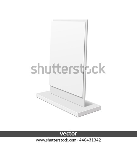 Outdoor advertising stand banner. Illustration isolated on white background. Graphic concept for your design - stock vector