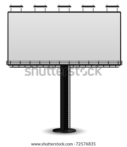 outdoor billboard banner - stock vector