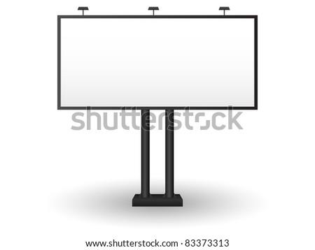 Outdoor billboard. Vector. - stock vector