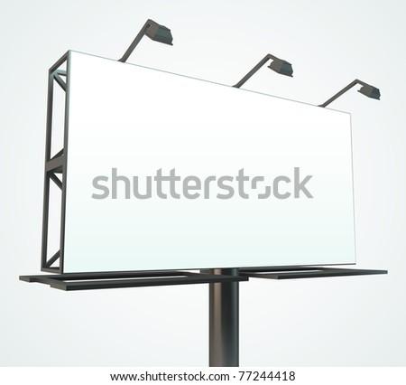 Outdoor blank billboard. Vector Illustration. - stock vector