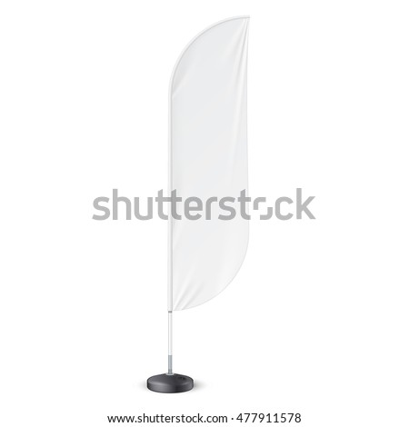 outdoor feather flag ground fillable water stock vector 477911578 shutterstock. Black Bedroom Furniture Sets. Home Design Ideas