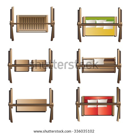 Outdoor Furniture , Swing Set Top View Set 7 For Landscape Design