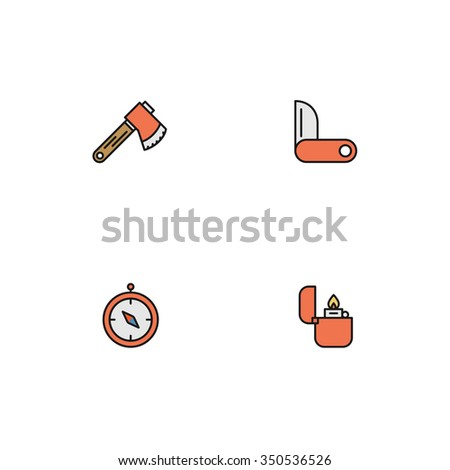 Outdoor Icons - stock vector