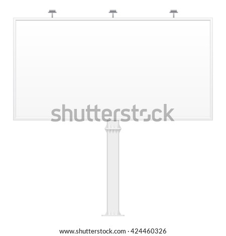 Outdoor Indoor Billboard Advertising Banner Shield Panel Display, Advertising. Mock Up Products On White Background Isolated. Ready For Your Design. Product Packing. Vector EPS10 - stock vector
