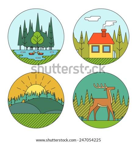 Symbols house of natural art