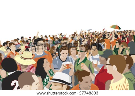 Outdoor Party - stock vector