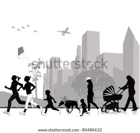 Outdoor recreation - stock vector