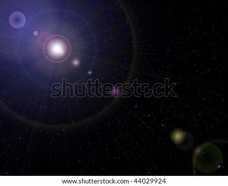 Outer Space vector - stock vector