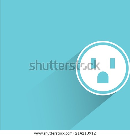 outlet on blue background - stock vector