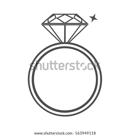 Sparkling Ring Png Silhouette