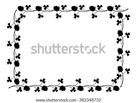 Outline Frame Floral Silhouette Stock Vector 382348732 - Shutterstock
