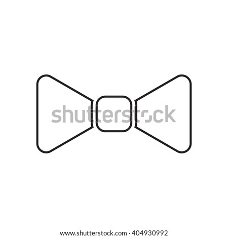 Outline icon bow tie, butterfly tie flat vector on white background. Element for logo design. - stock vector