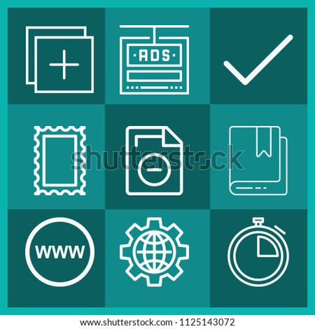 Outline interface icon set such internet stock vector 1125143072 outline interface icon set such as internet world map tick bookmark add gumiabroncs Image collections