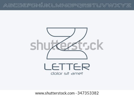 Outline letter z logo alphabet logo stock vector 347353382 outline letter z logo alphabet logo design spiritdancerdesigns Image collections