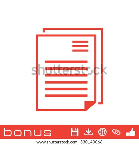 outline list icon - stock vector