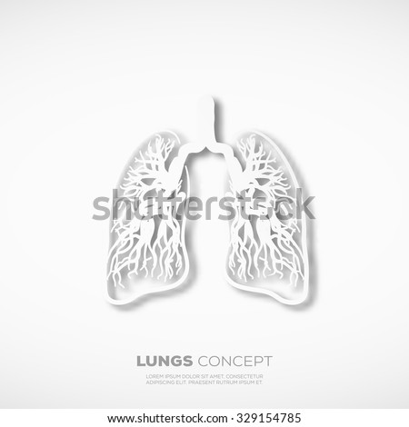 outline lungs concept sign template school stock vector 329154785, Powerpoint templates
