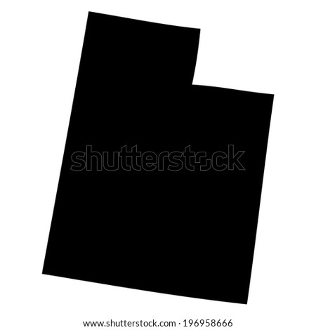 Outline of the State of Utah - stock vector
