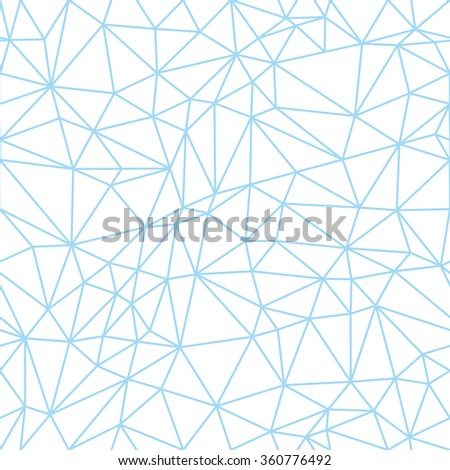 outline sky blue polygon seamless pattern in one detail only - stock vector