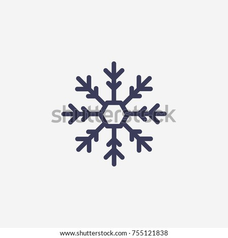 Outline Snowflake Icon Illustration Vector Symbol Stock Vector