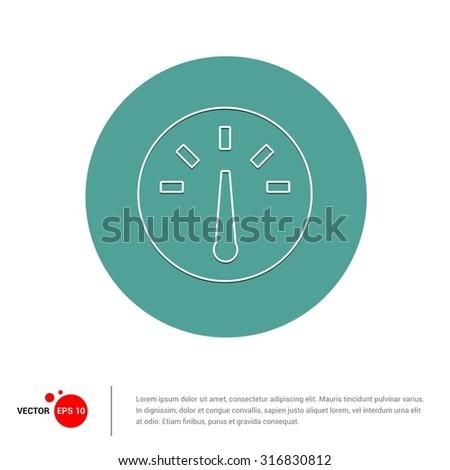 Outline Speedo meter Icon, Vector Illustration, Flat pictogram icon - stock vector
