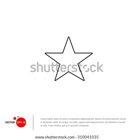 Outline star icon vector illustration flat stock vector 310041035 outline star icon vector illustration flat design style sciox Images