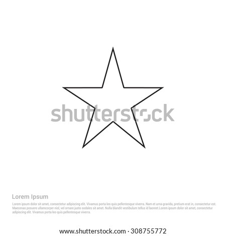 Star outline stock images royalty free images vectors outline star icon vector illustration flat pictogram icon sciox Images