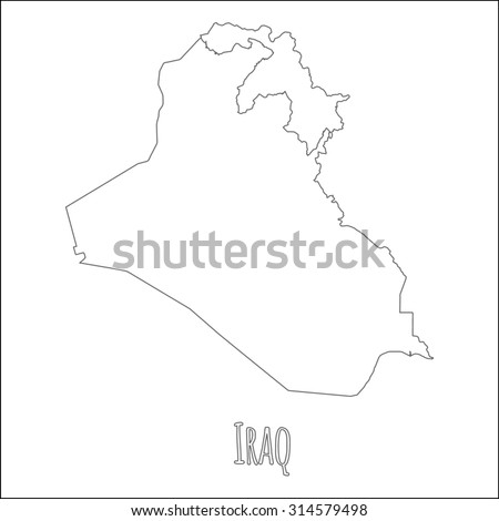 Outline Vector Map Iraq Simple Iraq Stock Vector HD Royalty Free