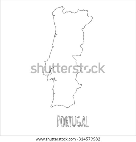 Map Portugal Stock Vector Shutterstock - Portugal map png