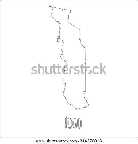 Outline Vector Map Togo Simple Togo Stock Vector - Togo map outline