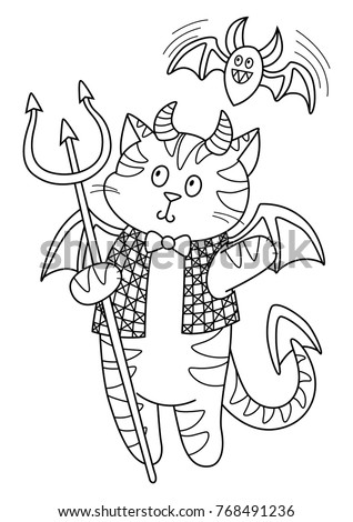 red devil coloring pages - photo#13