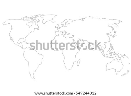 Outlines world map isolated on white stock vector hd royalty free outlines world map isolated on white background editable stroke gumiabroncs Image collections