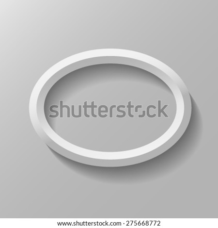 Oval frame with bevel. - stock vector