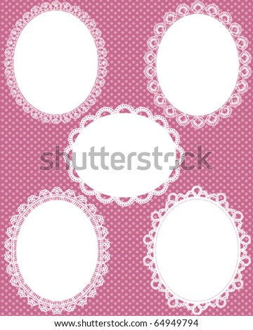 oval lace dot background - stock vector