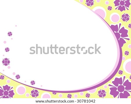 Oval Retro floral background (vector); a JPG version is also available - stock vector