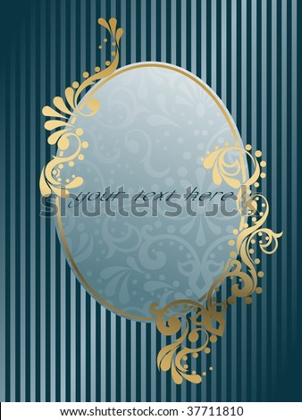 Oval vintage Victorian banner (vector); a JPG version is also available - stock vector