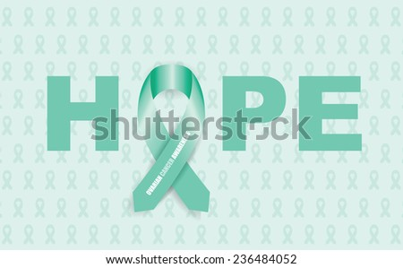 ovarian cancer ribbon - stock vector