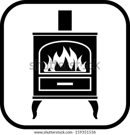 stove clipart black and white. oven stove vector icon clipart black and white