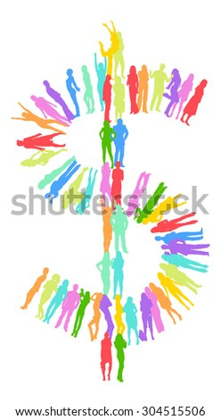 Over white Isolated  - stock vector