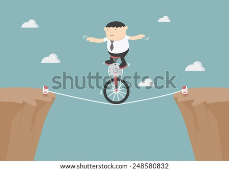 Overcome obstacles in life - stock vector
